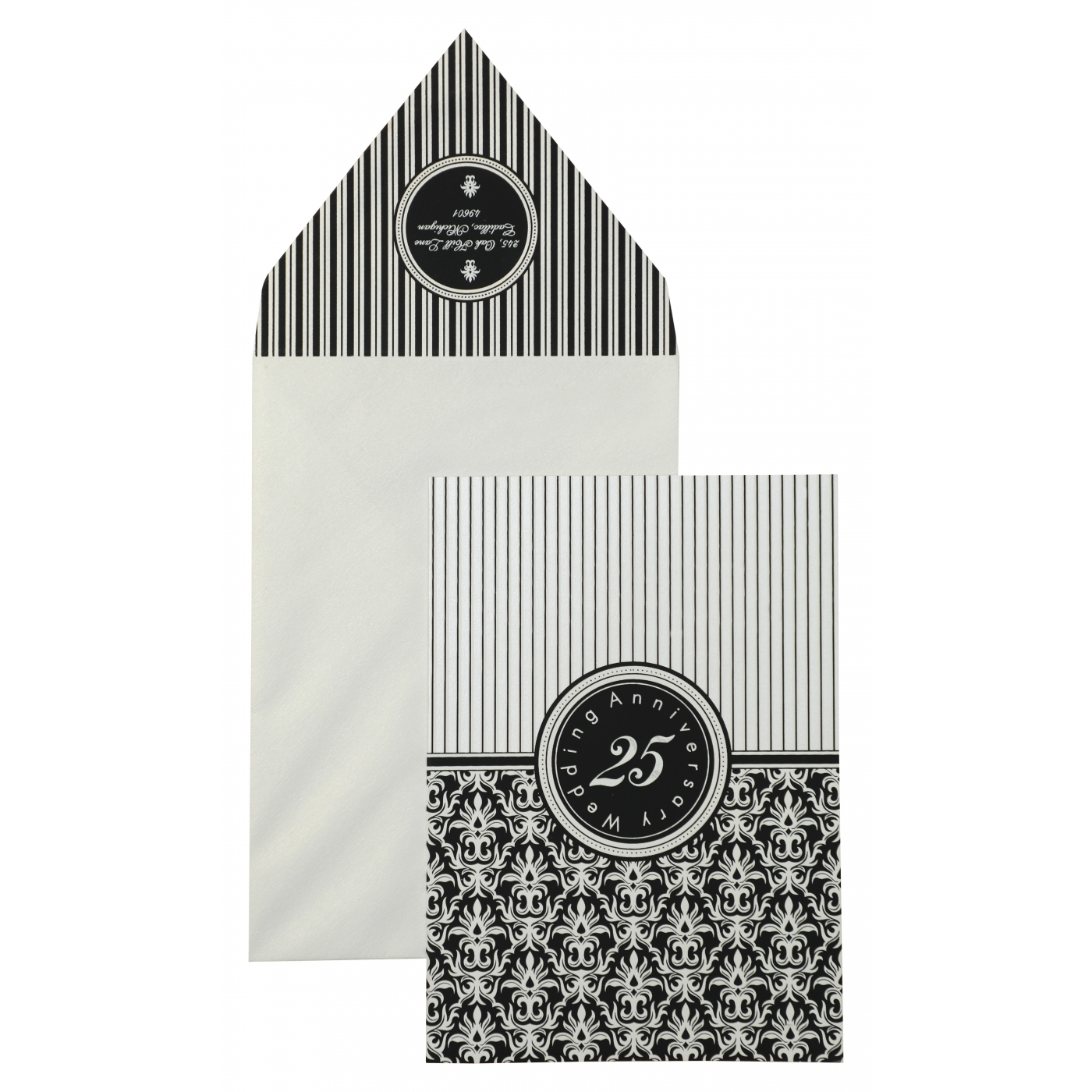 IVORY MATTE SCREEN PRINTED PARTY CARDS : APY-878 - A2zWeddingCards