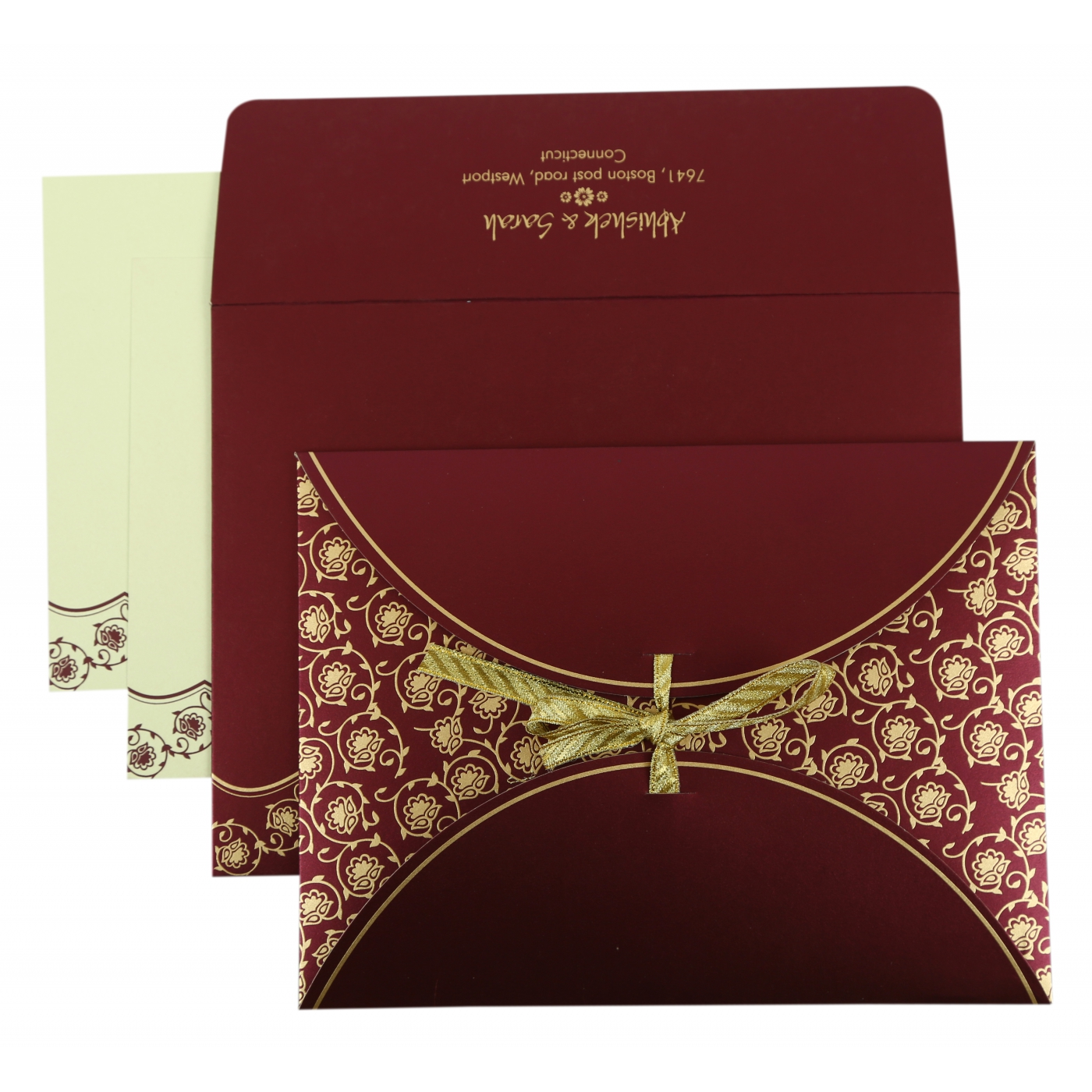 PURPLE SHIMMERY BUTTERFLY THEMED - SCREEN PRINTED WEDDING INVITATION : AD-821A - A2zWeddingCards